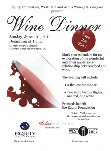 Wine Dinner by West Cafe and Ardiri Winery